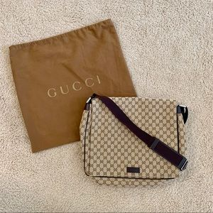 NWT Authentic Gucci Large Messenger Bag